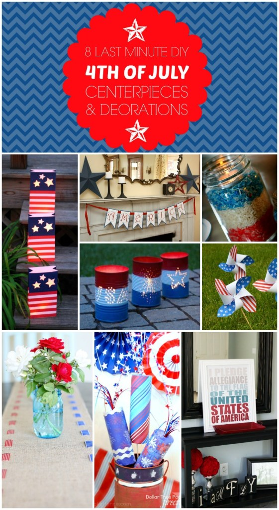 4th of july decor collage