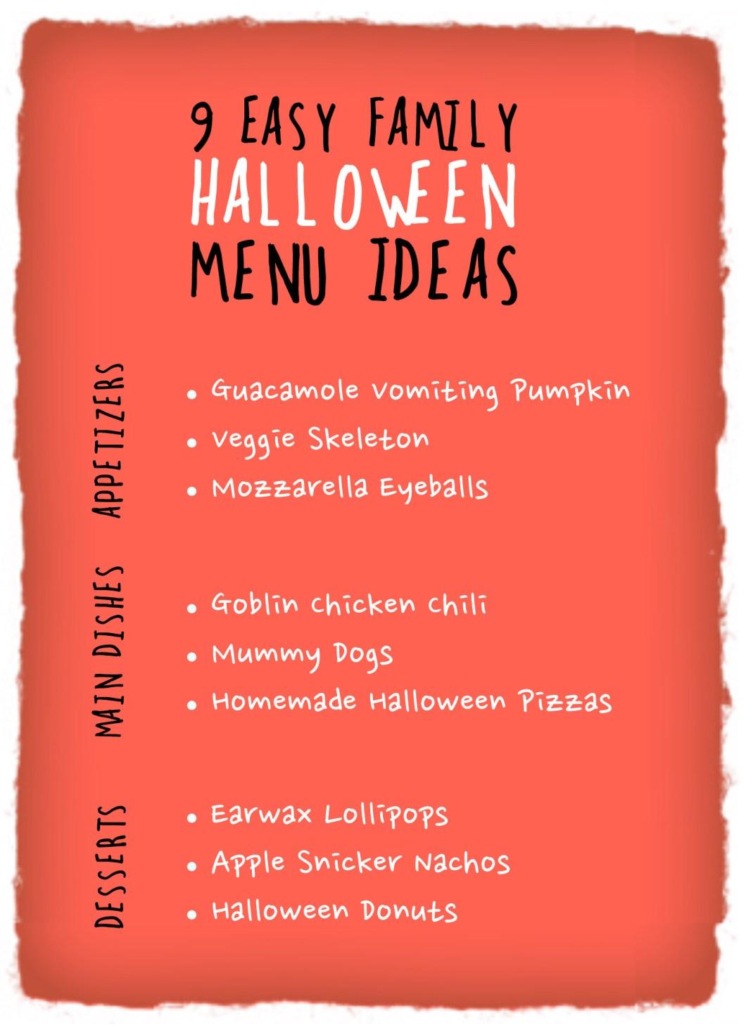 halloween restaurant menu