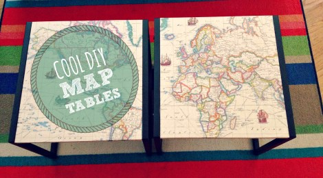 Cool DIY Map Tables