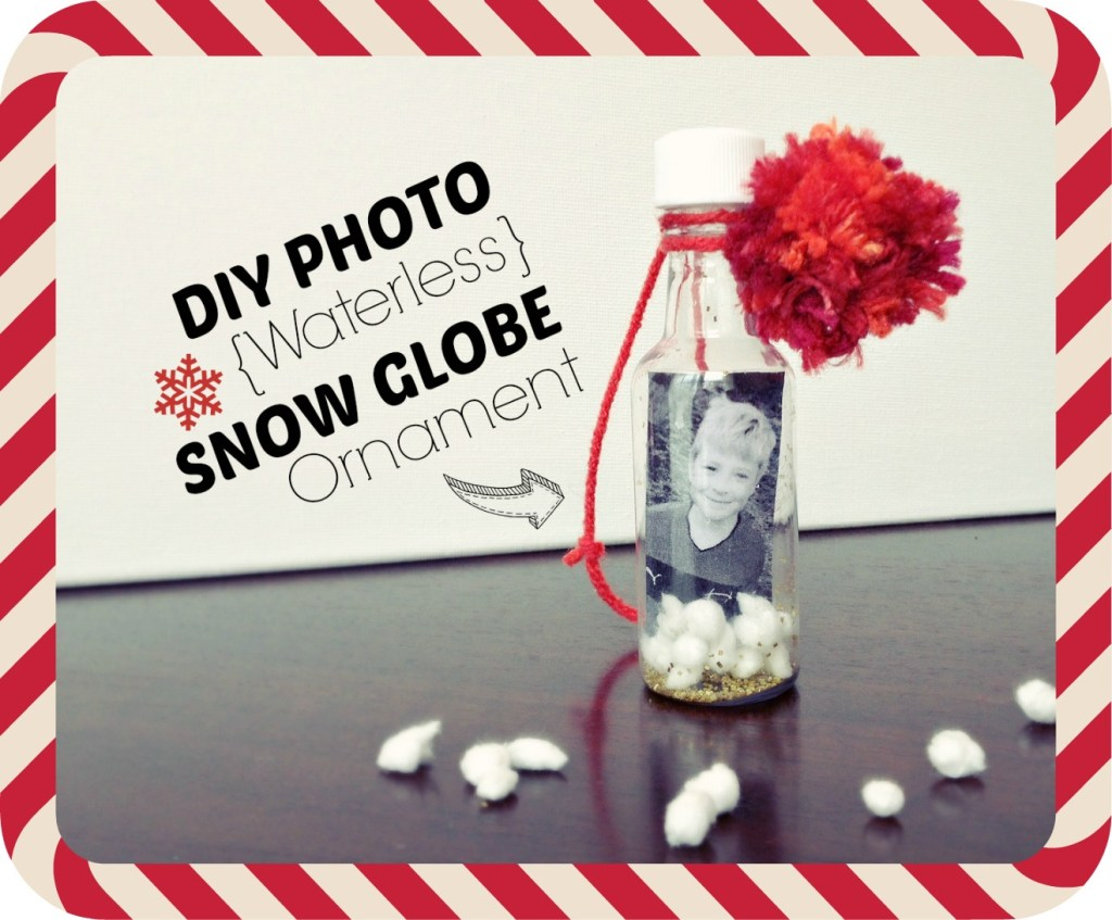 diy photo waterless snow globe cover