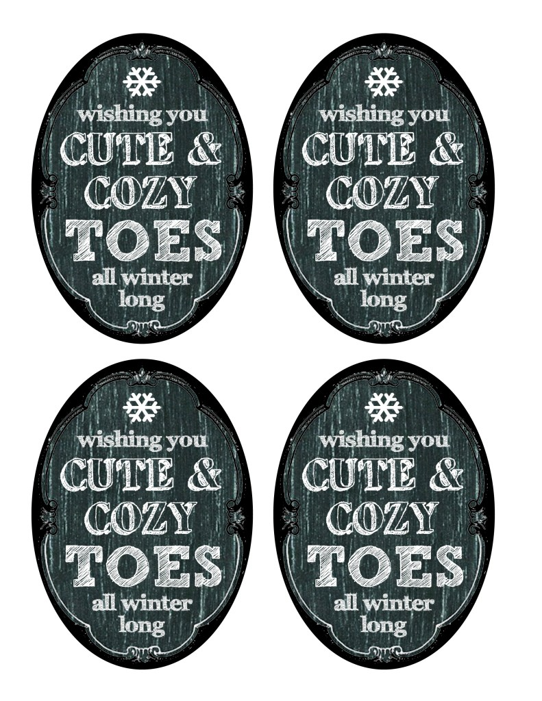 DIY Winter Toes Gift Labels