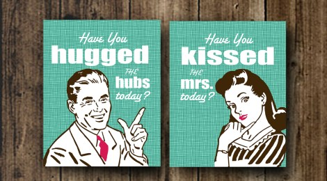 DIY Printable Hugs & Kisses 8x10 Prints | Valentine's, Wedding, New Home, Bridal Shower Gifts