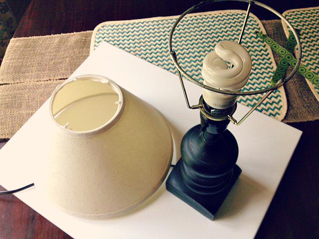 DIY bead lampshade 4