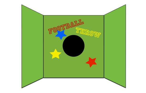 Football throw game pic
