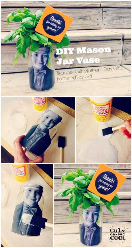 DIY Mason Jar Vase Collage 1