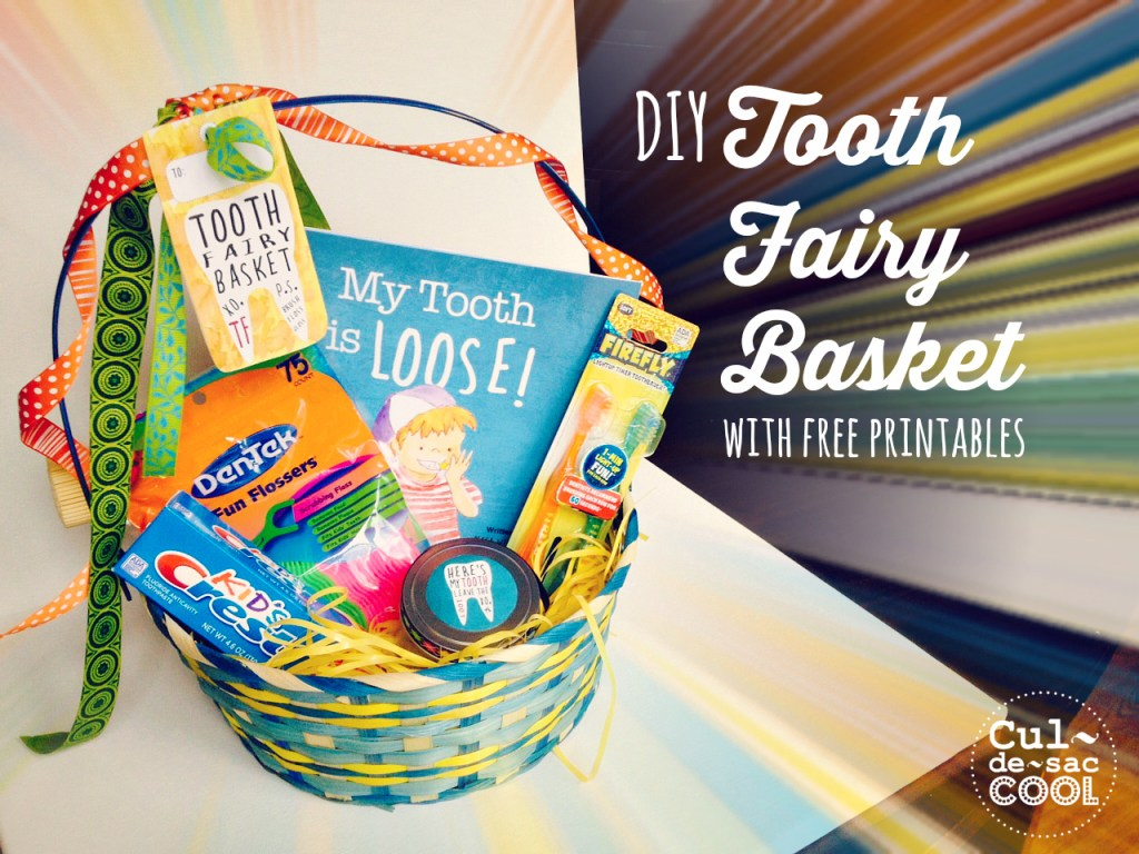 DIY Tooth Fairy Basket with free printables from the children's book My Tooth is Loose by Becca Wilkinson