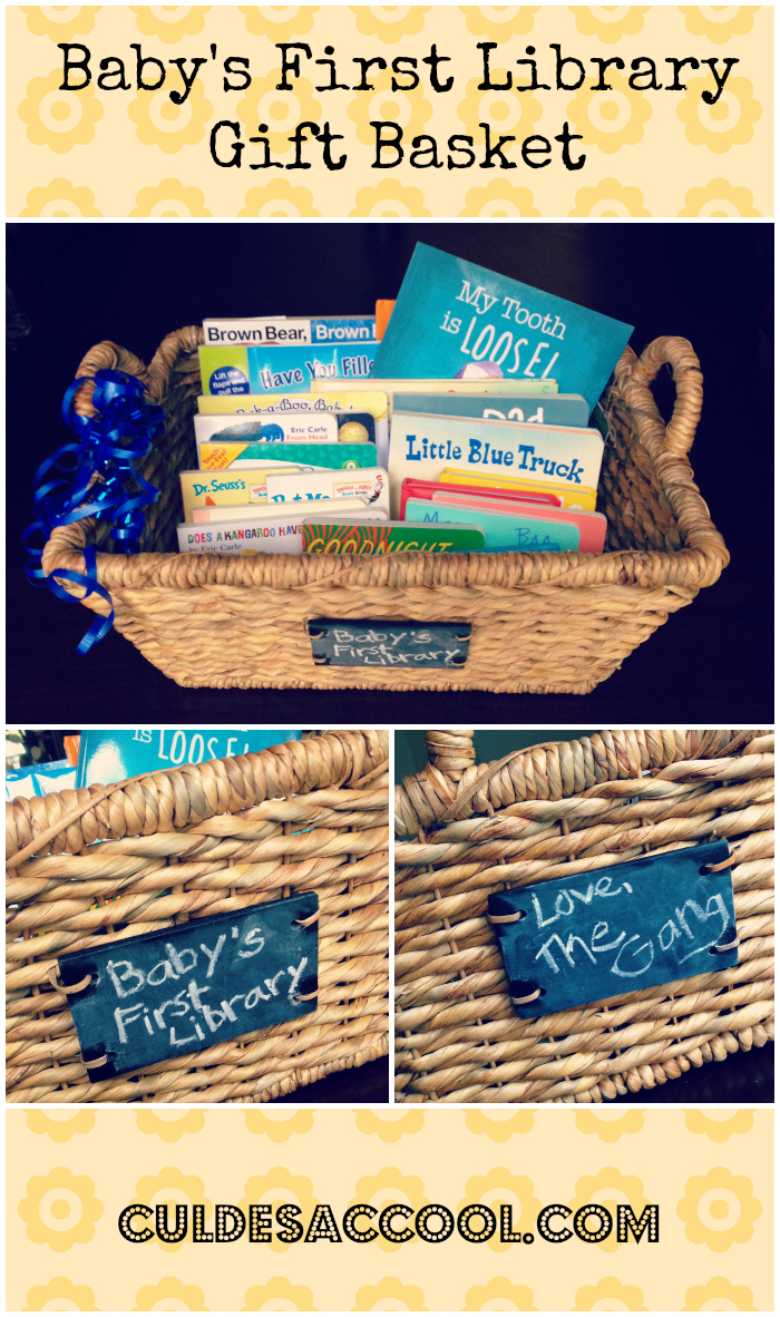 Baby's First Library Gift Basket Collage