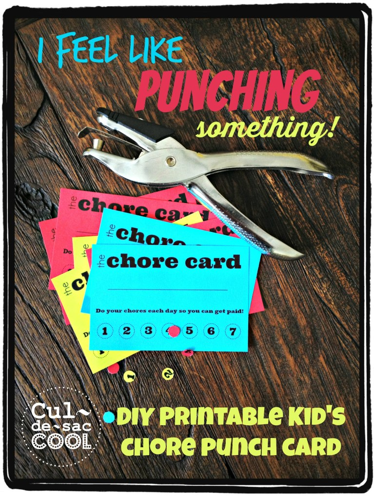 DIY Chore Punch Card 1