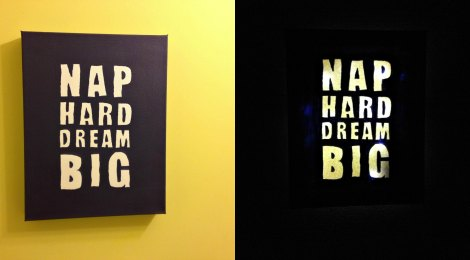 DIY Night Light 'Nap Hard Dream Big'