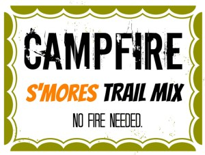 DIY Printable Trail Mix Label -- Smores