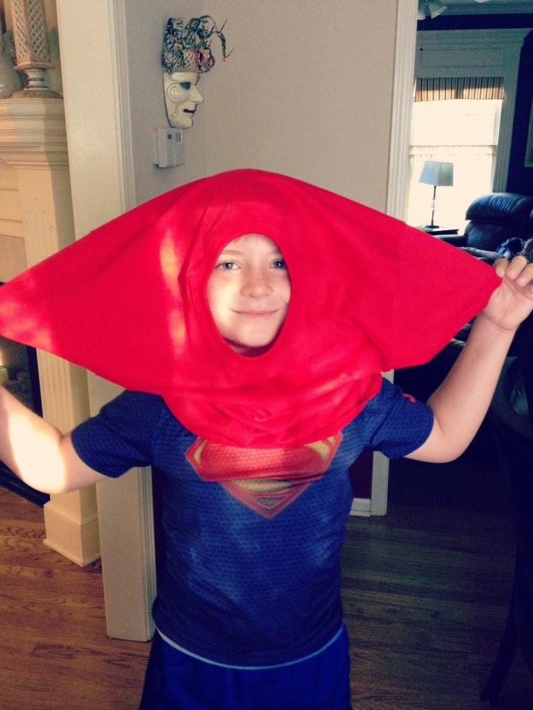 DIY Ninja Costume hood front