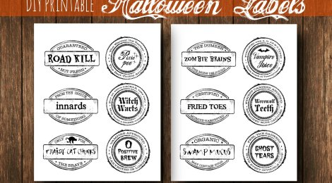 DIY Printable Halloween Labels