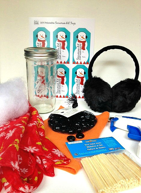 diy snowman kit supplies
