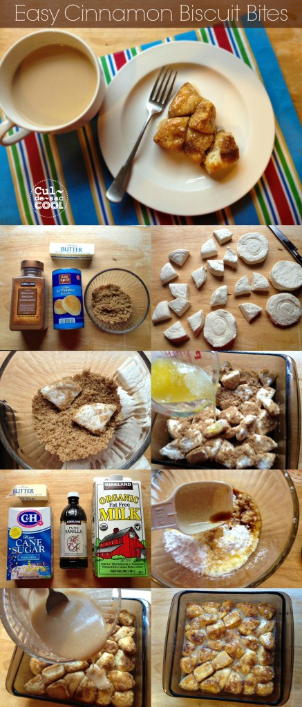 Easy Cinnamon Biscuit Bites Collage