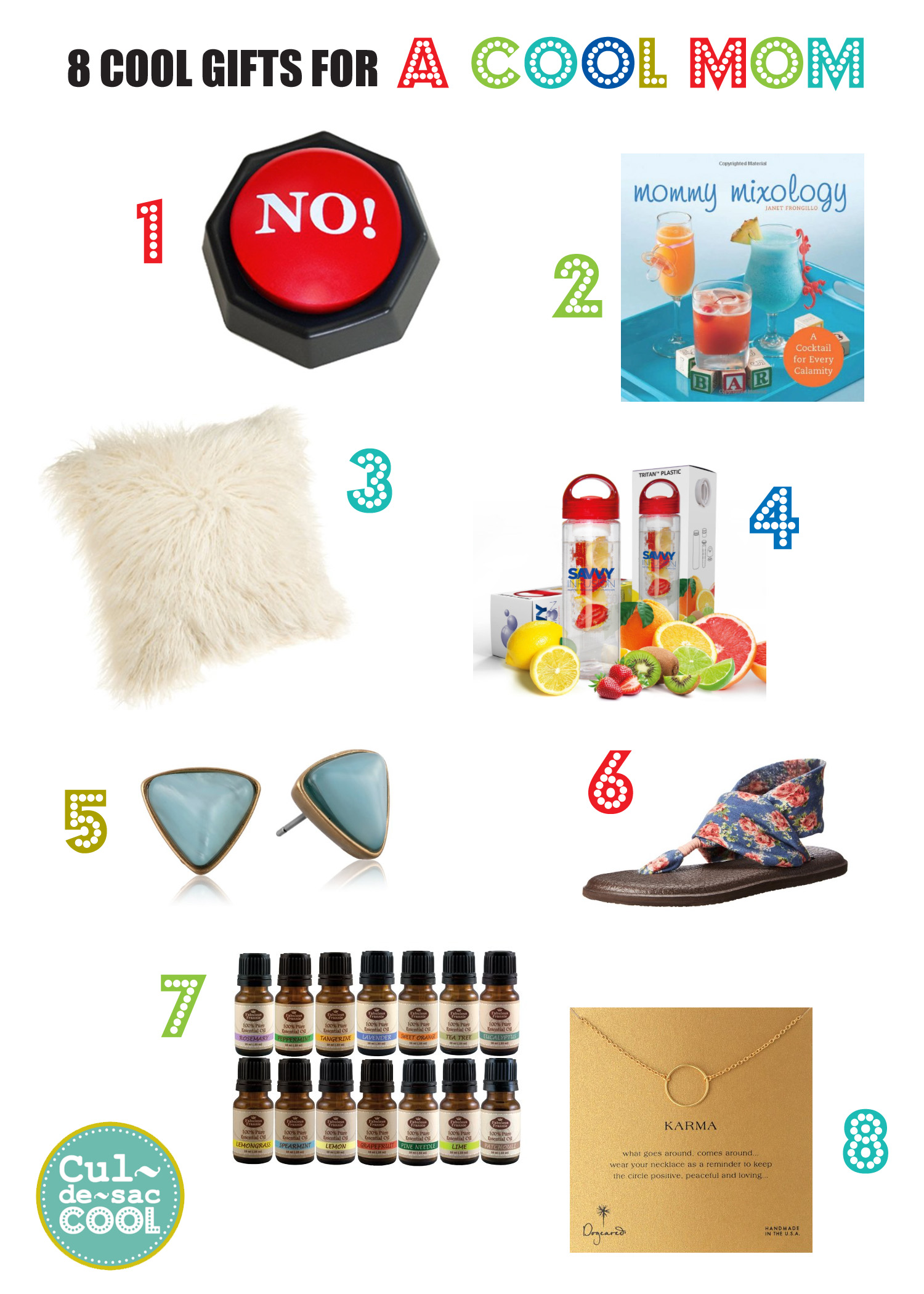 8 COOL GIFTS FOR COOL MOM