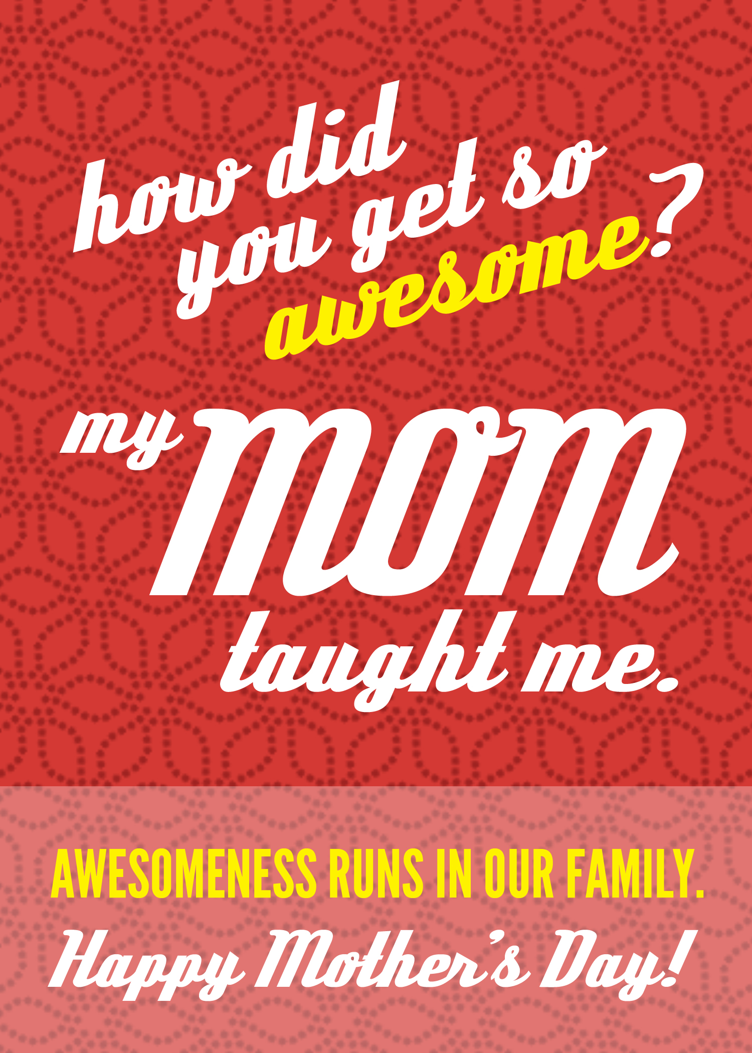 Awesome Mom Mother's Day card