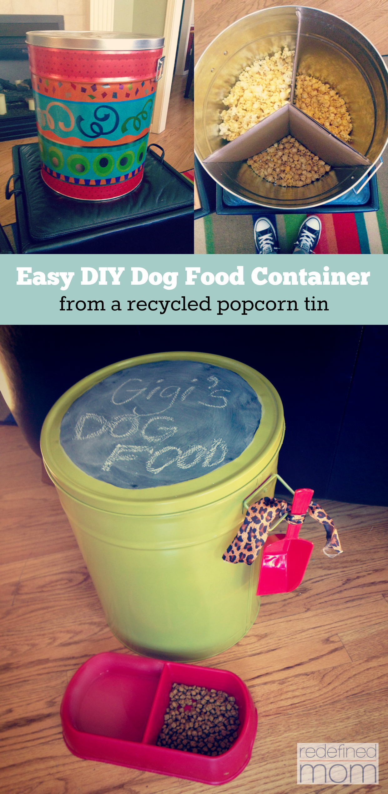 Easy DIY Dog Food Container Collage 1