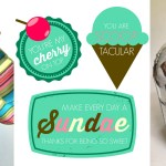 DIY Ice Cream Gift with free Printable Tags