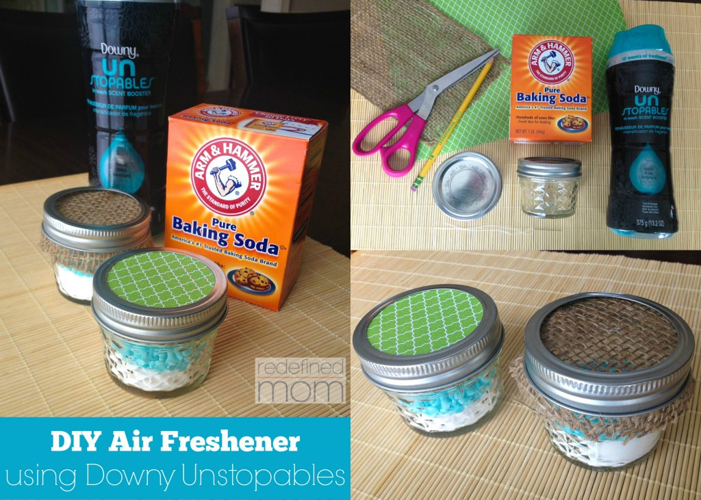 diy air freshener using Downy Unstopables Collage 1