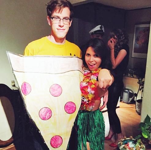 Hawaiian Pizza Couples Costume