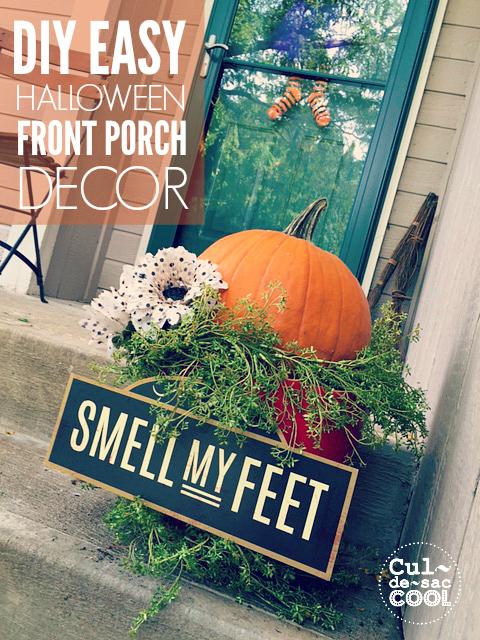 DIY Easy Halloween Front Porch Decor cover 2