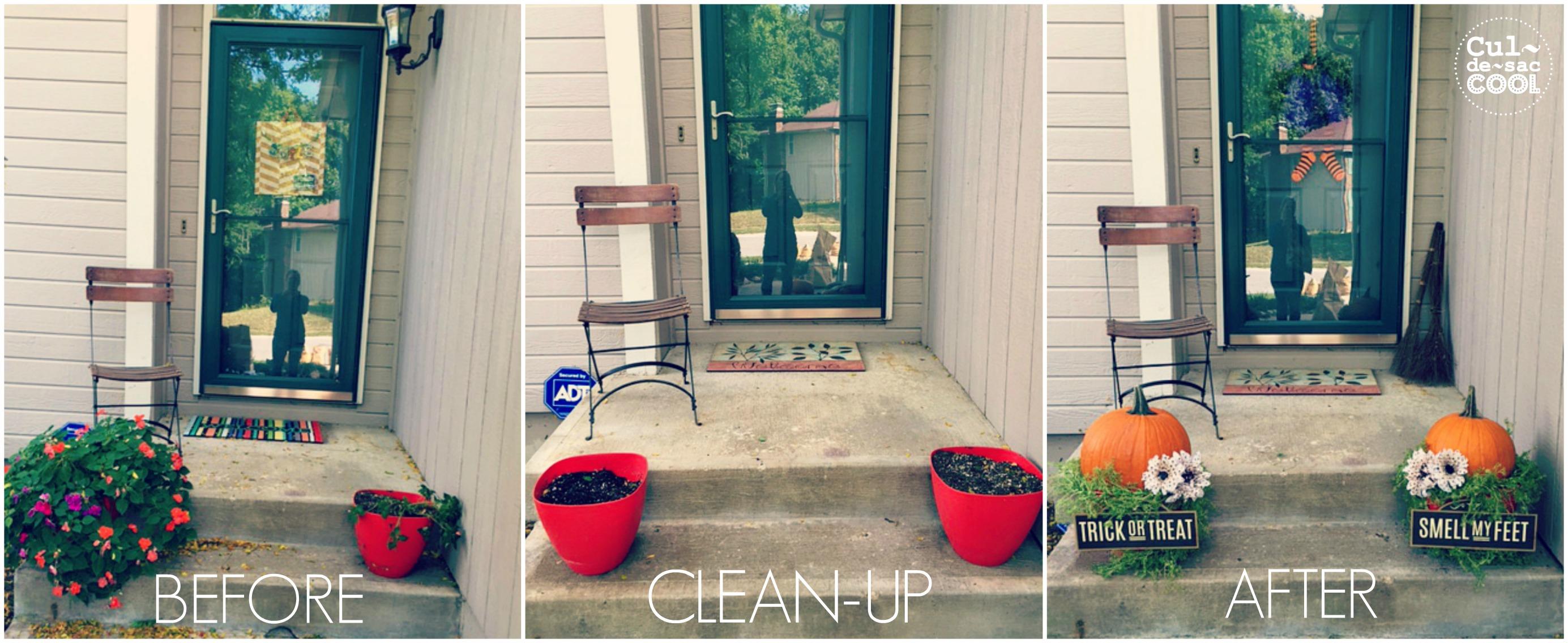 DIY Easy Halloween Porch Decor collage 1