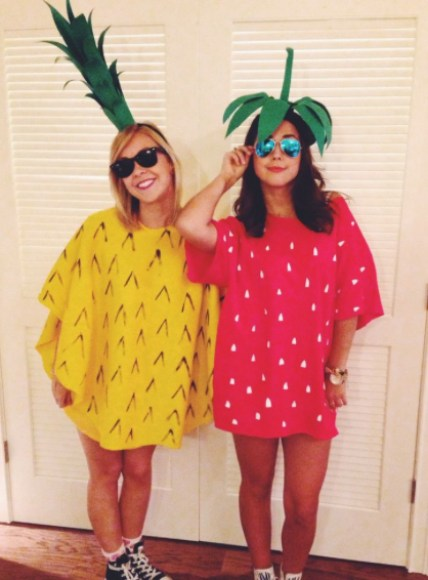 Pineapple and strawberry costume