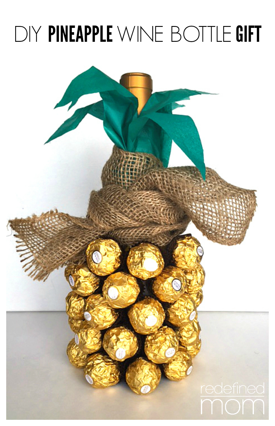 DIY Pineapple Wine Gift Cover 5