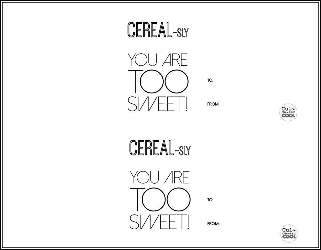 DIY Printable Cereal Valentines for School -1