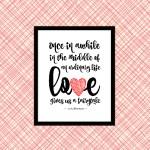 Love Gives Us A Fairytale Printable