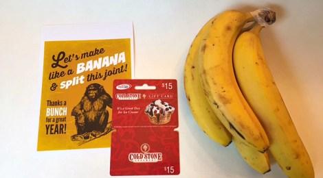 DIY Banana Split Teacher Gift with FREE Printable