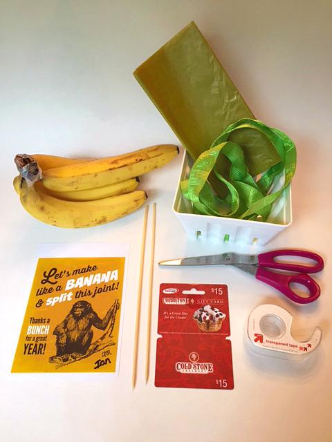DIY Banana Split Gift 2