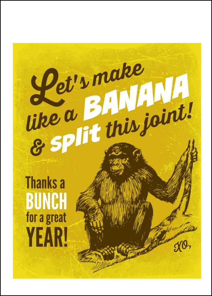 DIY Banana Split Teacher Card 2.5