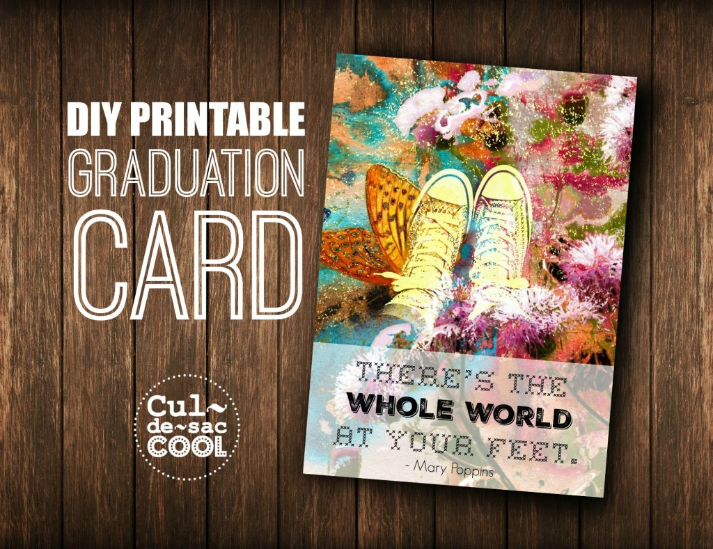 DIY Printable Graduation Card Cover