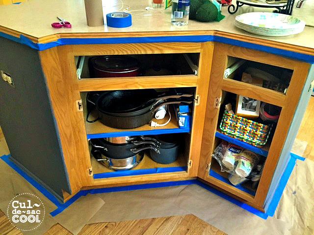 DIY Kitchen Island Remodel prep