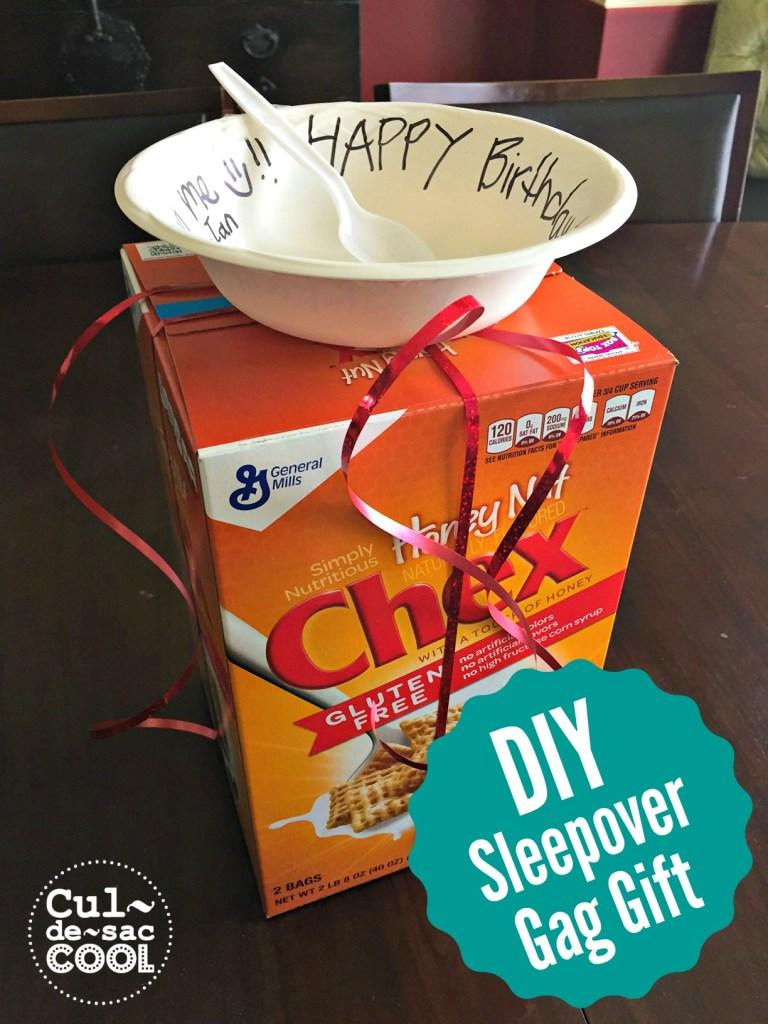 DIY Sleepover Gag Gift cover