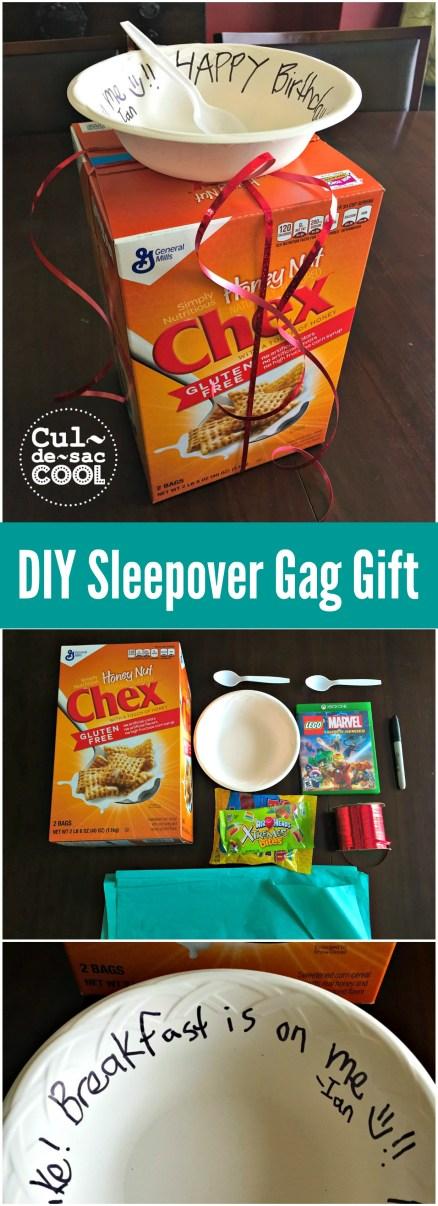 DIY Sleepover Gag Gift collage