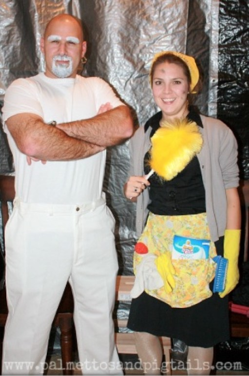Mr. Clean and Molly Main Costume