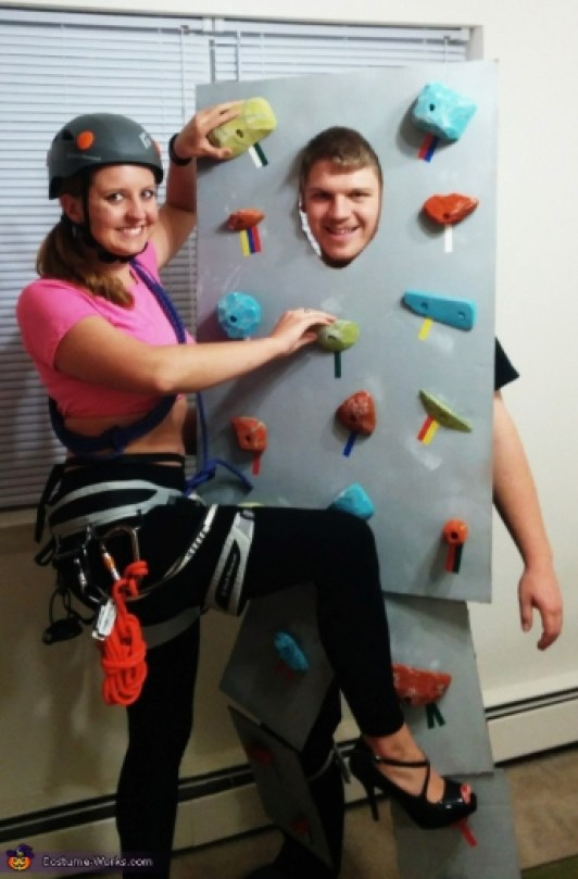 Rock Climbing Wall Couples Costume