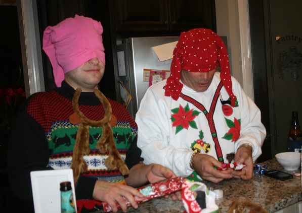 blind-folded-gift-wrapping