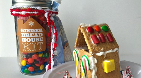 DIY Gingerbread House Kit in a Jar