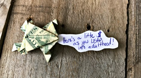 A Creative Way to Give Cash -- Money Origami Frog