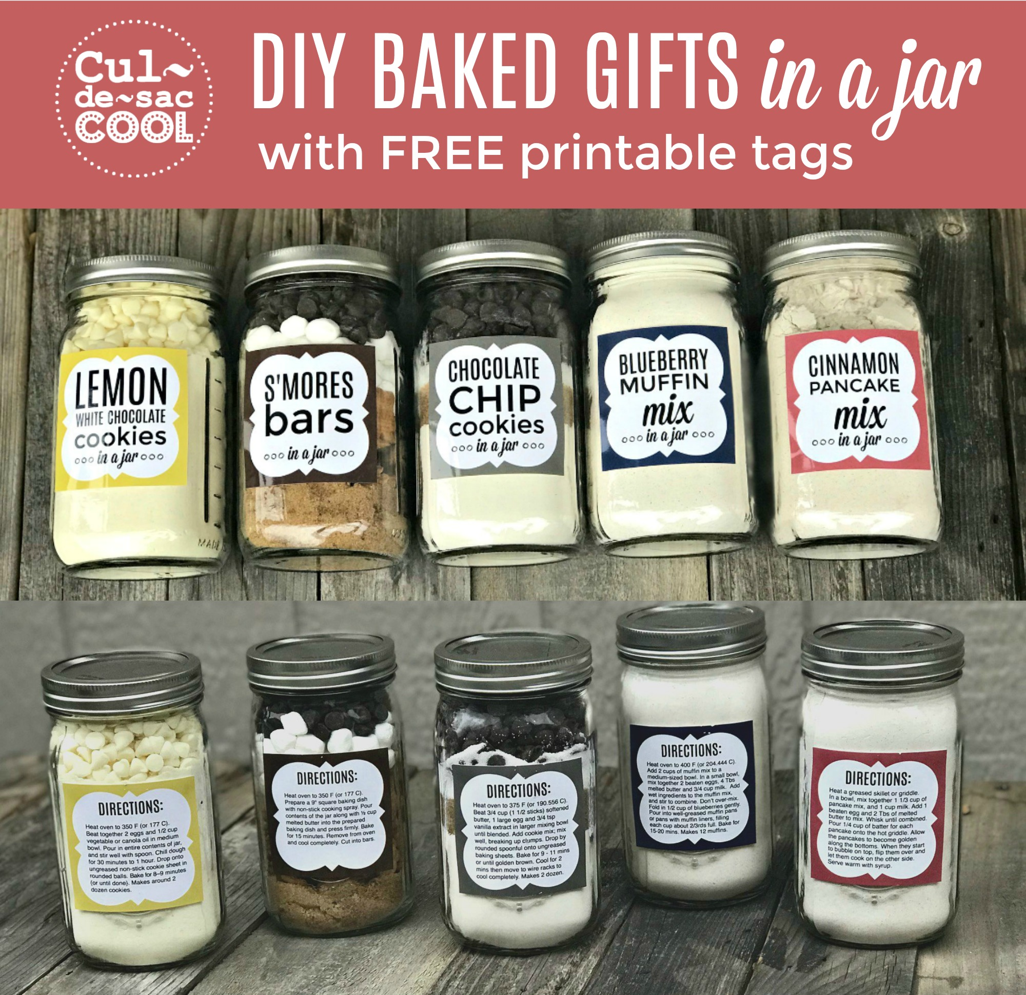 5 diy holiday baked gifts in a jar with free printable recipe tags 5 diy baked gifts in a jar with free printable recipe tags part 2 negle Gallery