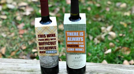 DIY Printable Thanksgiving Wine Tags