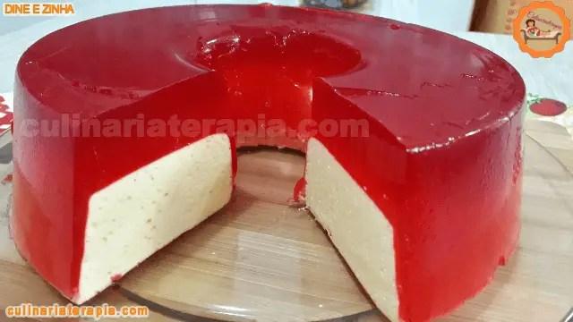 Gelatina Flotante Recheada Flutuante Sobremesa de 2 Ingredientes