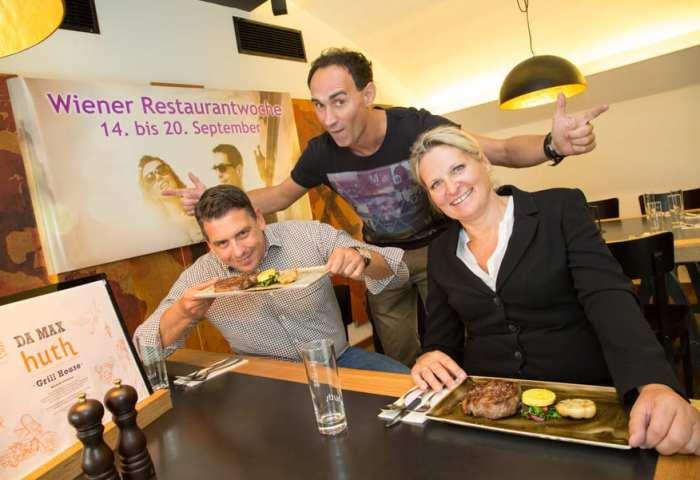 Gernot Kulis und die Gastronomen Gabriele & Robert Huth eröffnen gemeinsam Wiener Restaurantwoche