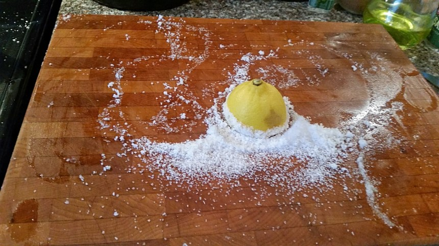 Cleaning with salt and lemon
