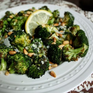 Lemon-Parmesan Roasted Broccoli