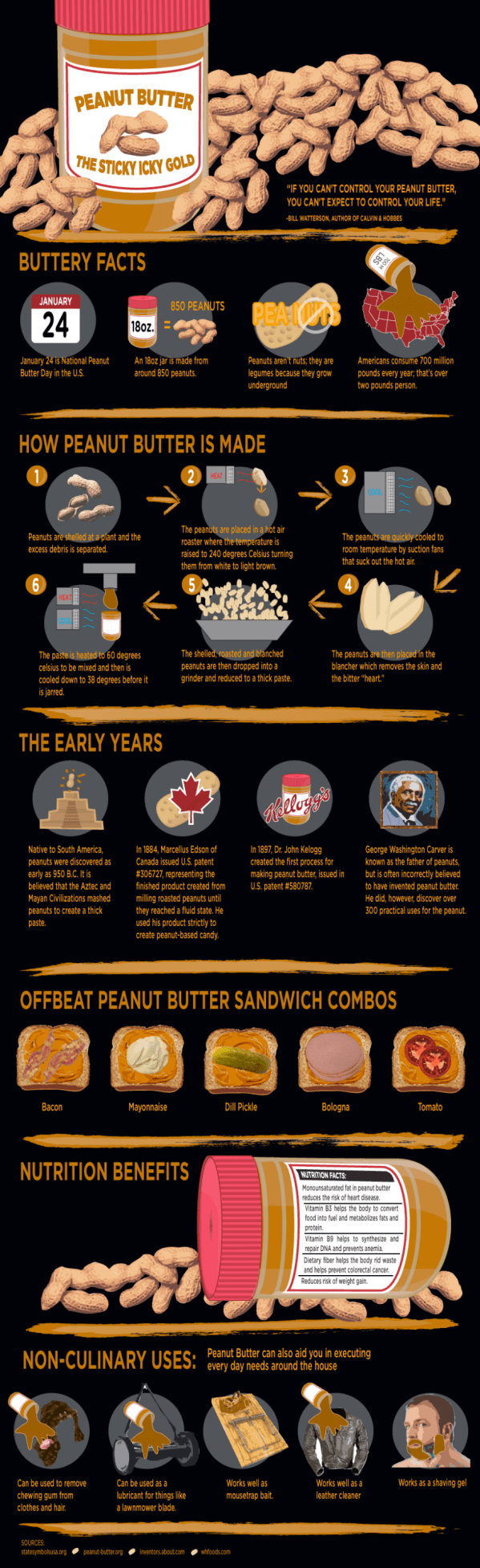 Peanut Butter Infographic.