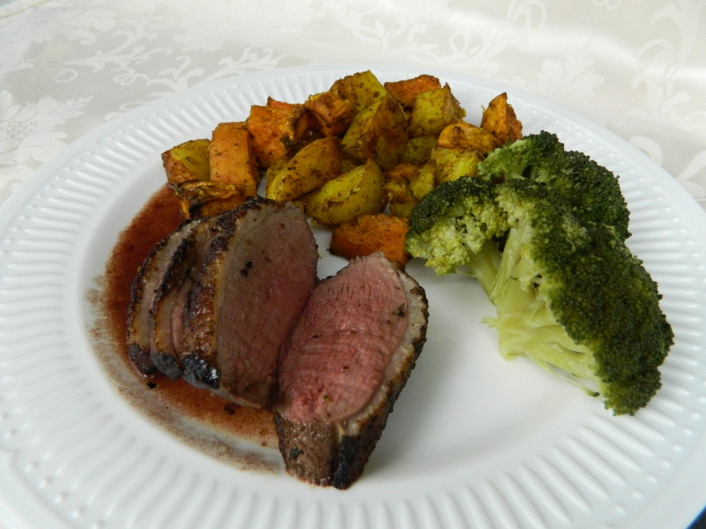 Romantic Duck Breasts with Colourful Potatoes
